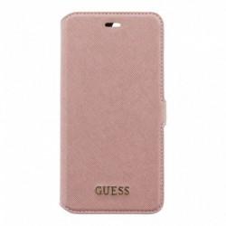 Guess Saffiano Funda Tipo Libro Rosa para iPhone 7 Plus